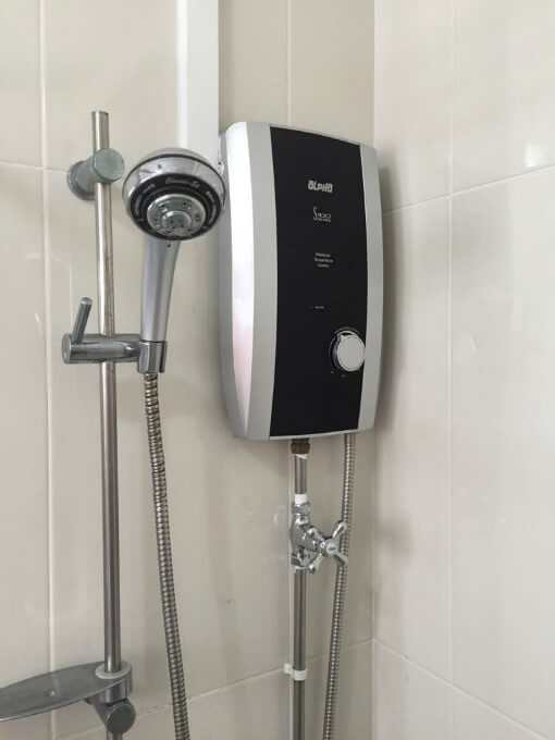 Image result for water heater bathroom